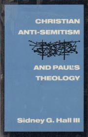 Cover of: Christian anti-Semitism and Paul