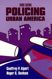 Cover of: Policing urban America