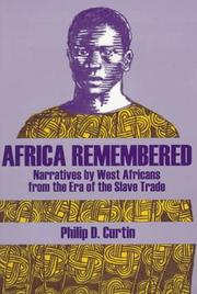 Cover of: Africa Remembered