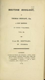 Cover of: British zoology | Thomas Pennant