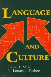 Cover of: Language and culture