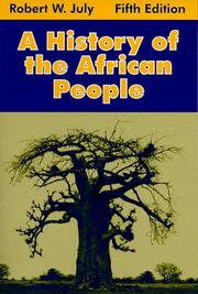 Cover of: A history of the African people