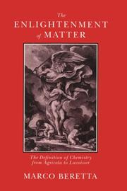 Cover of: The enlightenment of matter | Marco Beretta
