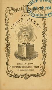 Cover of: New union hymns