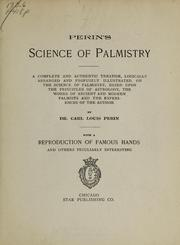 Cover of: Perin's science of palmistry