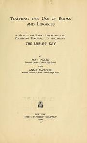 Cover of: Teaching the use of books and libraries