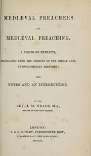 Cover of: Mediæval preachers and mediæval preaching