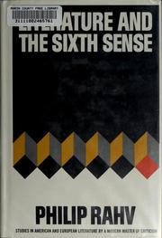 Cover of: Literature and the sixth sense