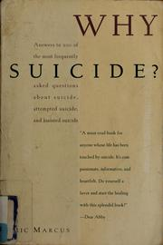 Cover of: Why suicide?