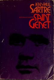 Cover of: Saint Genet, actor and martyr