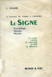 Cover of: Le signe