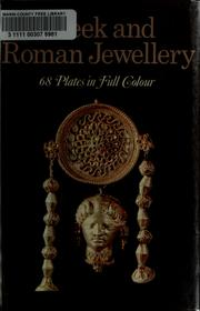 Cover of: Greek and Roman jewellery