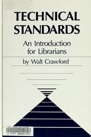 Cover of: Technical standards | Walt Crawford