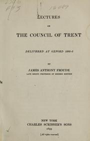 Cover of: Lectures on the Council of Trent