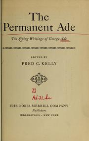 Cover of: The permanent Ade