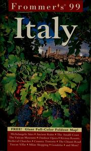 Cover of: Frommer's 99 Italy