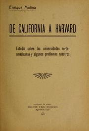 Cover of: De California a Harvard