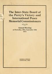 Cover of: The Inter-state board of the Perry