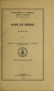 Cover of: Pacific cod fisheries