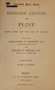 Cover of: Selected letters of Pliny