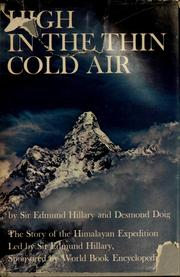 Cover of: High in the thin cold air