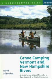 Cover of: Canoe camping, Vermont & New Hampshire rivers