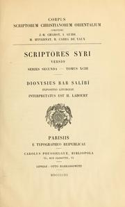 Cover of: ... Expositio liturgiae