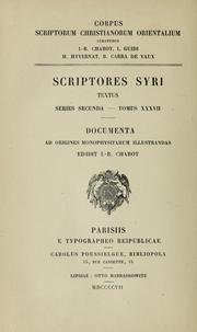 Cover of: Documenta ad origines Monophysitarum illustrandos | Theodosius Archbishop of Alexandria