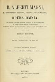 Cover of: Opera omnia