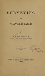 Cover of: Surveying and traverse table...