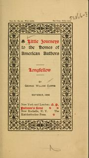 Cover of: Longfellow | George William Curtis