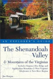 Cover of: Shenandoah Valley and the mountains of the Virginias | Jim Hargan