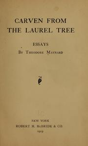 Cover of: Carven from the laurel tree