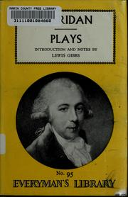 Cover of: Sheridan's plays