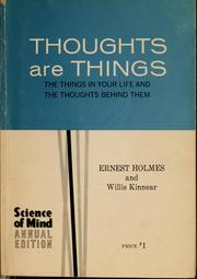 Cover of: Thoughts are things