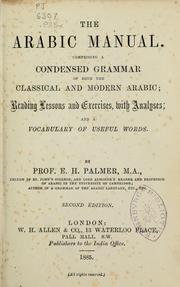 Cover of: The arabic manual