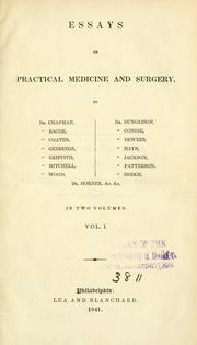 Cover of: Essays on practical medicine and surgery
