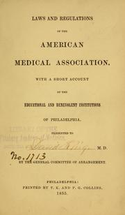Cover of: Laws and regulations of the American Medical Association | American Medical Association