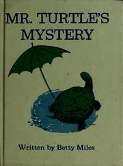 Cover of: Mr. Turtle's mystery