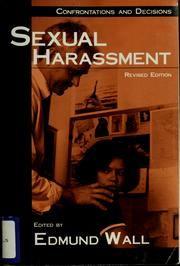 Cover of: Sexual harassment | Edmund Wall
