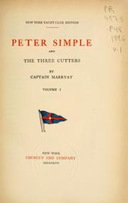 Cover of: Peter Simple and the three cutters
