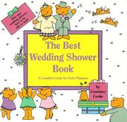 Cover of: The Best Wedding Shower Book | Courtney Cooke
