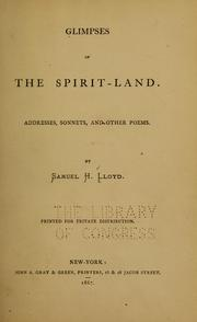Cover of: Glimpses of the spirit-land
