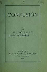 Cover of: Confusión
