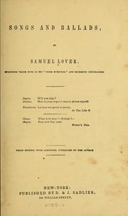 Cover of: Songs and ballads | Samuel Lover