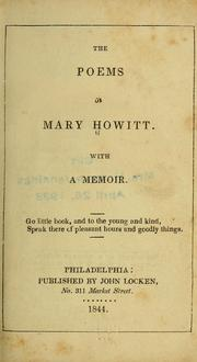 Cover of: The poems of Mary Howitt | Mary Botham Howitt