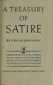 Cover of: A treasury of satire | Edgar Johnson