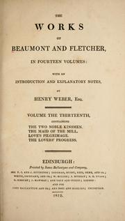 Cover of: The works of Beaumont and Fletcher