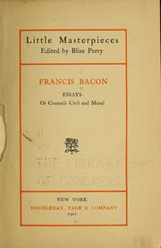 Cover of: Essays | Francis Bacon
