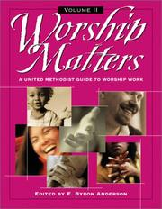 Cover of: Worship matters |